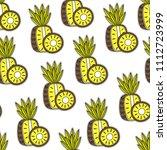 pineapple pattern background | Shutterstock .eps vector #1112723999
