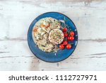 blanquette of veal with porcini ... | Shutterstock . vector #1112727971
