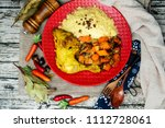 traditional moroccan dish... | Shutterstock . vector #1112728061