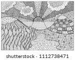 doodle surreal landscape  ...   Shutterstock .eps vector #1112738471