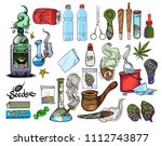 marijuana. cultivation and... | Shutterstock .eps vector #1112743877