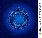 futuristic interface circle....