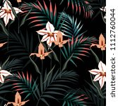 vector seamless tropical... | Shutterstock .eps vector #1112760044