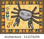 stylized zodiac backgrounds...   Shutterstock . vector #111276254