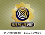 gold emblem with target ... | Shutterstock .eps vector #1112769599