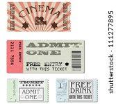 vector set  cardboard tickets...   Shutterstock .eps vector #111277895