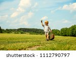 a  boy pilot with airplane | Shutterstock . vector #1112790797