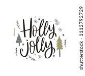 merry christmas hand drawn...   Shutterstock .eps vector #1112792729