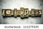 Letterpress concept, retro vintage type on grunge background - stock photo