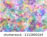 abstract watercolor digital art ... | Shutterstock . vector #1112800265