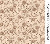 seamless floral pattern | Shutterstock . vector #1112806217