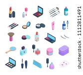 vector isometric makeup... | Shutterstock .eps vector #1112811491