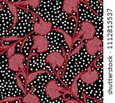 beautiful silhouette carnation... | Shutterstock .eps vector #1112813537
