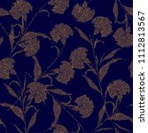 yellow silhouette carnation...   Shutterstock .eps vector #1112813567
