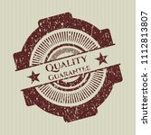 red quality guarantee distress ...   Shutterstock .eps vector #1112813807