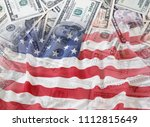 american flag and assorted... | Shutterstock . vector #1112815649
