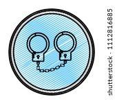 doodle metal handcuffs arrest... | Shutterstock .eps vector #1112816885