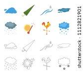 rain  snow  heat  weathervane.... | Shutterstock .eps vector #1112821901