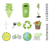 bio and ecology cartoon icons... | Shutterstock .eps vector #1112824424