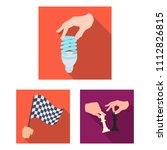 manipulation by hands flat... | Shutterstock .eps vector #1112826815