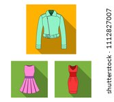 women's clothing flat icons in... | Shutterstock .eps vector #1112827007