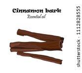 vector drawn cinnamon bark.... | Shutterstock .eps vector #1112828555