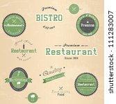 set of vintage retro restaurant ... | Shutterstock .eps vector #111283007