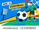 football web banner. live...   Shutterstock .eps vector #1112838044