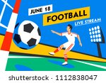 football web banner. live... | Shutterstock .eps vector #1112838047