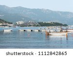 adriatic sea landscape with...   Shutterstock . vector #1112842865