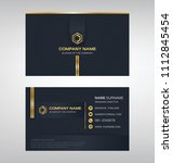 business model name card luxury ... | Shutterstock .eps vector #1112845454
