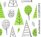 forest simple sketh drawn hand... | Shutterstock .eps vector #1112851091