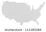 dotted usa map on white | Shutterstock .eps vector #111285284