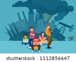 energy use and greenhouse gas... | Shutterstock .eps vector #1112856647