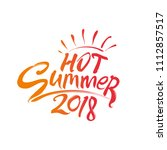 hot summer 2018 and sun rays....   Shutterstock .eps vector #1112857517