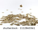 coins stacked on each other in... | Shutterstock . vector #1112863361