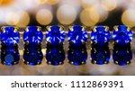 close up of blue gem necklace... | Shutterstock . vector #1112869391