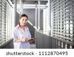 female medicine doctor hand... | Shutterstock . vector #1112870495