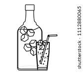 line port liquor bottle and...   Shutterstock .eps vector #1112880065