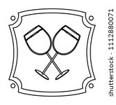 line liquor brandy glass...   Shutterstock .eps vector #1112880071