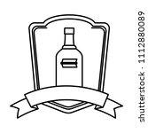 line liquor vodka bottle...   Shutterstock .eps vector #1112880089