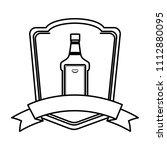 line tequila liquor bottle...   Shutterstock .eps vector #1112880095