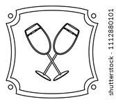 line champagne liquor glass...   Shutterstock .eps vector #1112880101