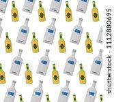 vodka and schnapps liquor...   Shutterstock .eps vector #1112880695