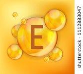 vitamin  e  icon antioxidant.... | Shutterstock .eps vector #1112883047