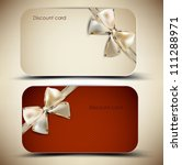 collection of gift cards with... | Shutterstock .eps vector #111288971
