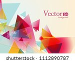 abstract geometric background... | Shutterstock .eps vector #1112890787