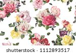 seamless floral pattern with...   Shutterstock . vector #1112893517