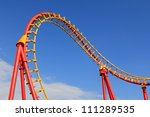 a roller coaster track in red... | Shutterstock . vector #111289535