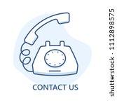 contact us vector line design.... | Shutterstock .eps vector #1112898575